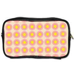 Pattern Flower Background Wallpaper Toiletries Bags