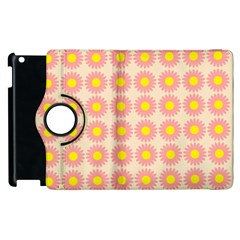 Pattern Flower Background Wallpaper Apple Ipad 2 Flip 360 Case by Nexatart