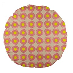 Pattern Flower Background Wallpaper Large 18  Premium Round Cushions by Nexatart