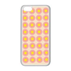 Pattern Flower Background Wallpaper Apple Iphone 5c Seamless Case (white) by Nexatart