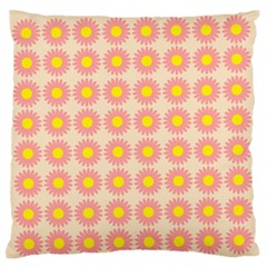 Pattern Flower Background Wallpaper Standard Flano Cushion Case (two Sides) by Nexatart