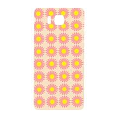 Pattern Flower Background Wallpaper Samsung Galaxy Alpha Hardshell Back Case by Nexatart
