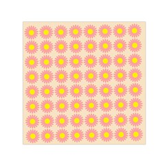 Pattern Flower Background Wallpaper Small Satin Scarf (square)