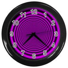 Background Coloring Circle Colors Wall Clocks (black) by Nexatart