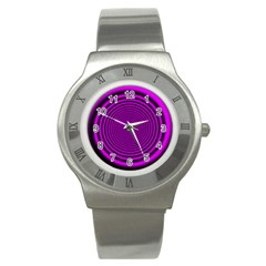 Background Coloring Circle Colors Stainless Steel Watch by Nexatart
