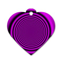 Background Coloring Circle Colors Dog Tag Heart (two Sides)