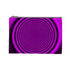 Background Coloring Circle Colors Cosmetic Bag (large)