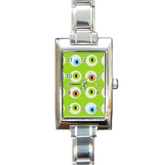 Eyes Background Structure Endless Rectangle Italian Charm Watch
