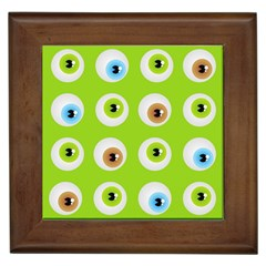 Eyes Background Structure Endless Framed Tiles by Nexatart