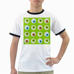 Eyes Background Structure Endless Ringer T Shirts