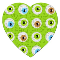 Eyes Background Structure Endless Jigsaw Puzzle (heart) by Nexatart