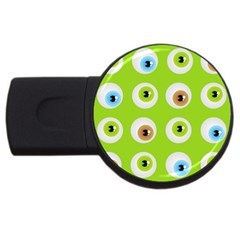 Eyes Background Structure Endless Usb Flash Drive Round (4 Gb)