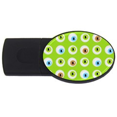 Eyes Background Structure Endless Usb Flash Drive Oval (4 Gb) by Nexatart