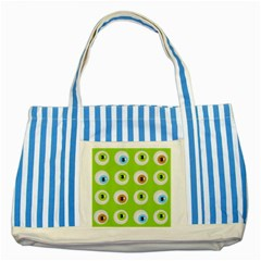Eyes Background Structure Endless Striped Blue Tote Bag by Nexatart