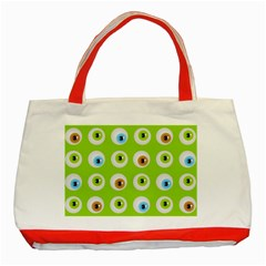 Eyes Background Structure Endless Classic Tote Bag (red) by Nexatart