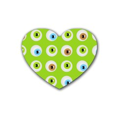 Eyes Background Structure Endless Heart Coaster (4 Pack)