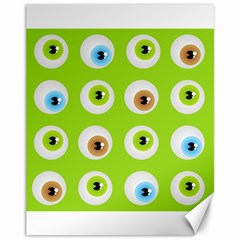 Eyes Background Structure Endless Canvas 11  X 14   by Nexatart