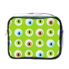 Eyes Background Structure Endless Mini Toiletries Bags by Nexatart