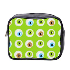 Eyes Background Structure Endless Mini Toiletries Bag 2 Side by Nexatart