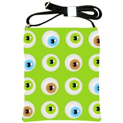 Eyes Background Structure Endless Shoulder Sling Bags by Nexatart
