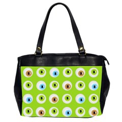 Eyes Background Structure Endless Office Handbags (2 Sides)  by Nexatart