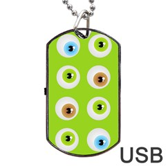 Eyes Background Structure Endless Dog Tag Usb Flash (two Sides)