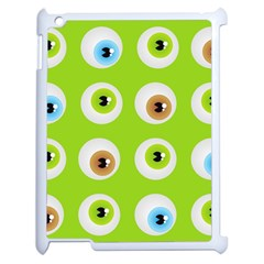 Eyes Background Structure Endless Apple Ipad 2 Case (white) by Nexatart