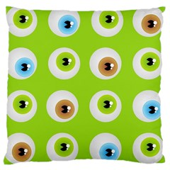 Eyes Background Structure Endless Large Cushion Case (one Side) by Nexatart