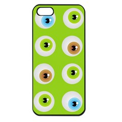Eyes Background Structure Endless Apple Iphone 5 Seamless Case (black)