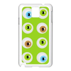 Eyes Background Structure Endless Samsung Galaxy Note 3 N9005 Case (white)