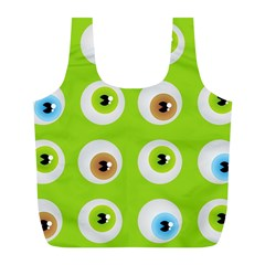 Eyes Background Structure Endless Full Print Recycle Bags (l)  by Nexatart