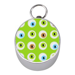 Eyes Background Structure Endless Mini Silver Compasses by Nexatart