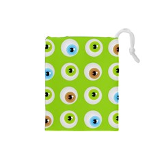Eyes Background Structure Endless Drawstring Pouches (small)