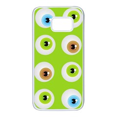 Eyes Background Structure Endless Samsung Galaxy S7 White Seamless Case