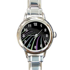 Graphic Design Graphic Design Round Italian Charm Watch