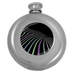 Graphic Design Graphic Design Round Hip Flask (5 Oz)