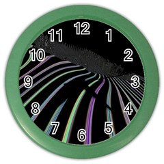 Graphic Design Graphic Design Color Wall Clocks by Nexatart