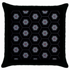 Mandala Calming Coloring Page Throw Pillow Case (black)