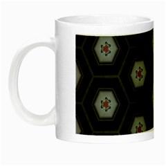 Mandala Calming Coloring Page Night Luminous Mugs by Nexatart