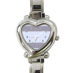 Blue Modern Heart Italian Charm Watch by Nexatart