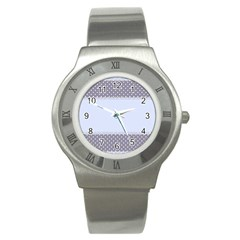 Blue Modern Stainless Steel Watch by Nexatart