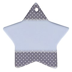 Blue Modern Star Ornament (two Sides)