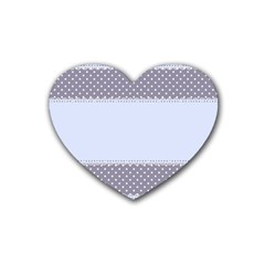 Blue Modern Rubber Coaster (heart)  by Nexatart