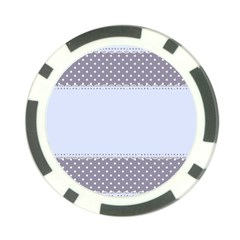 Blue Modern Poker Chip Card Guard
