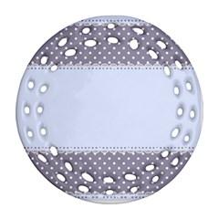 Blue Modern Ornament (round Filigree) by Nexatart