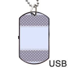 Blue Modern Dog Tag Usb Flash (two Sides) by Nexatart