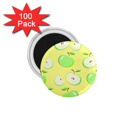 Apples Apple Pattern Vector Green 1 75  Magnets (100 Pack)