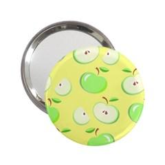 Apples Apple Pattern Vector Green 2 25  Handbag Mirrors