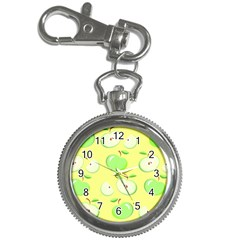 Apples Apple Pattern Vector Green Key Chain Watches