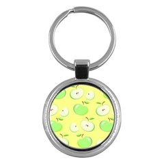 Apples Apple Pattern Vector Green Key Chains (round)